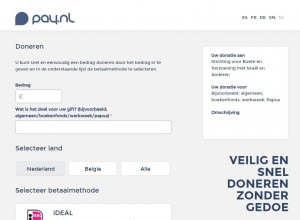 screenshot pay.nl donatie