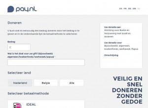 screenshot pay.nl donatie